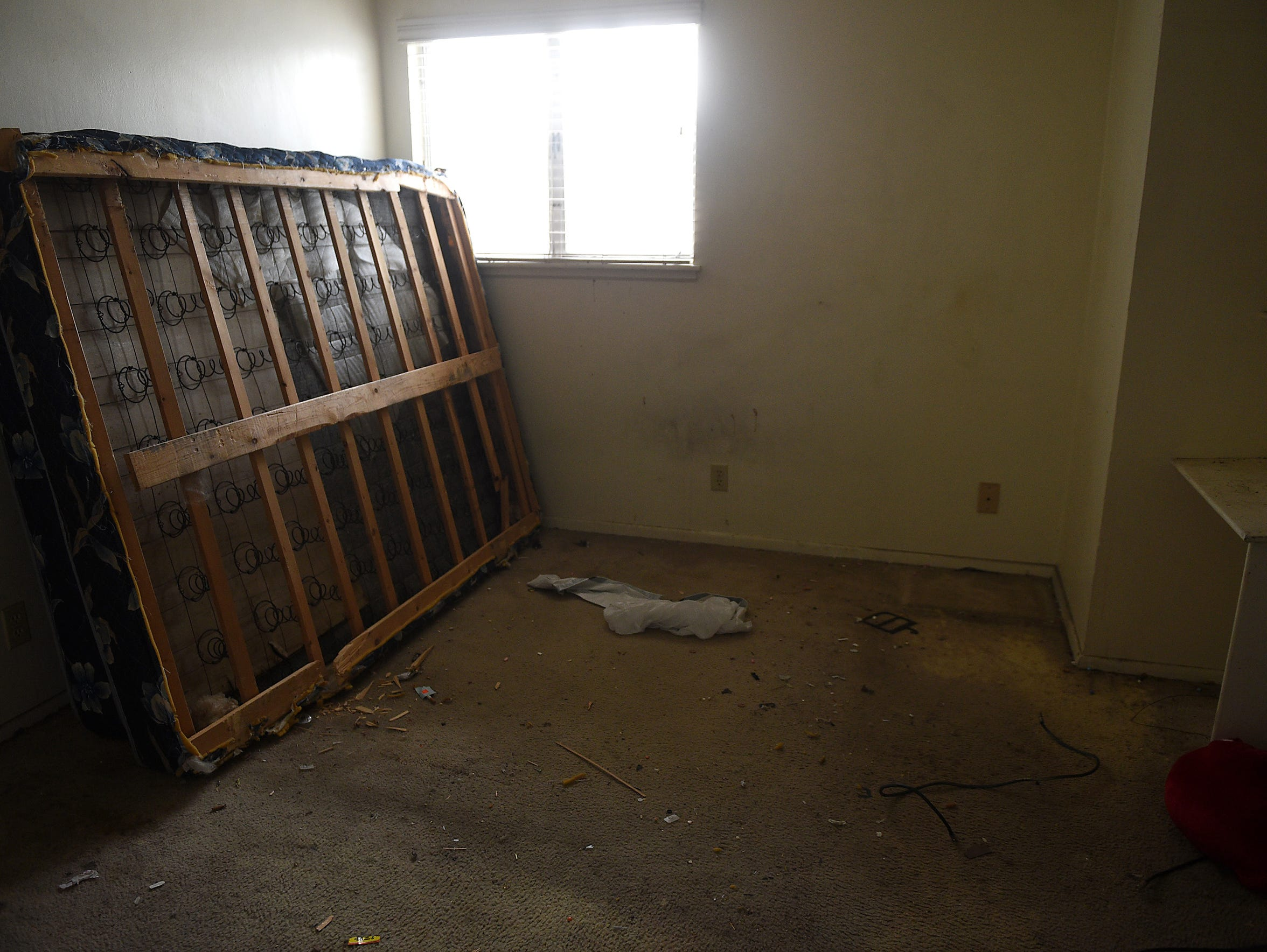A bedroom in a group home for mentally ill state clients,