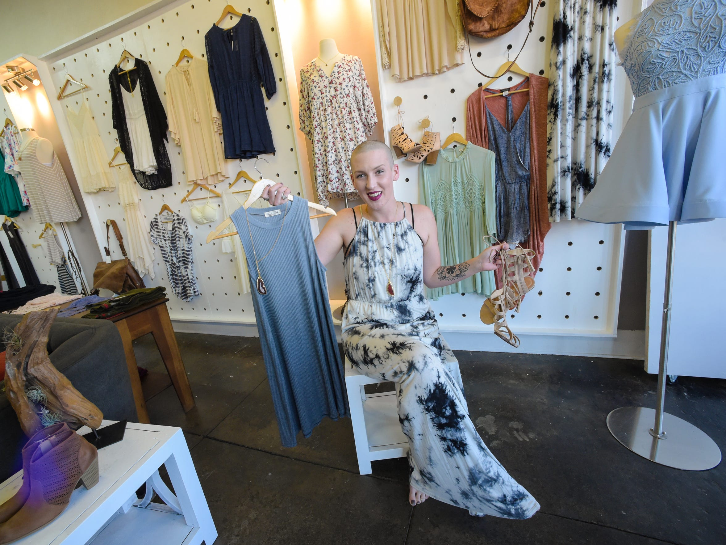 Leah Maxwell caters to women on a budget at her store, Three Little Birds.