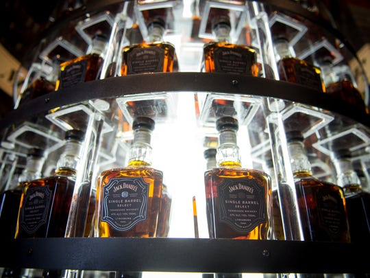Bottles of Jack Daniel's Single Barrel Select sit on display at the Jack Daniel's Distillery in Lynchburg, Tenn.