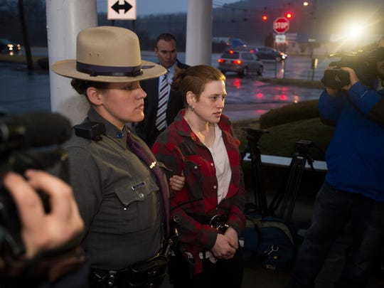 Amanda Hellmann was arrested and charged with second-degree