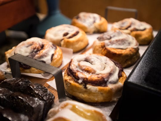 Cinnamon rolls for sale at The Owego Kitchen.