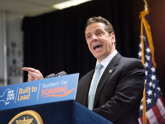 Gov. Andrew Cuomo at a 2016 announcement for economic