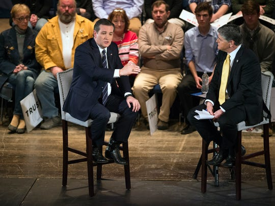 Republican presidential hopeful Ted Cruz sat down Friday with Fox News host Sean Hannity for a taped segment at the Forum in Binghamton.