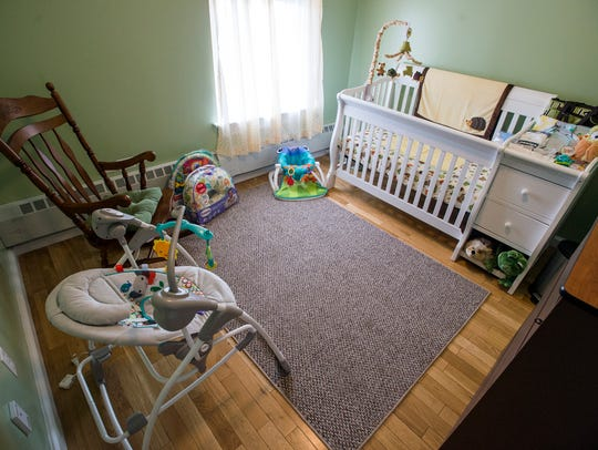 A baby's room inside the YWCA in Binghamton that will