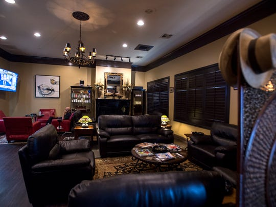 The main smoking room is shown at Sanctuary Cigars on Monday, Jun. 13, 2016 in Montgomery, Ala.