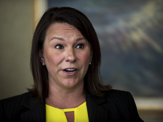 Congresswoman Martha Roby spoke to the media after a meeting with VA and hospital leaders on Thursday, Jun. 30, 2016 in Montgomery, Ala.