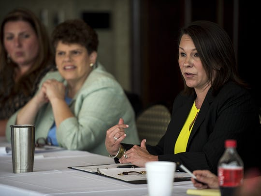 Congresswoman Martha Roby spoke during a meeting with