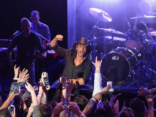 Pandora Presents: Tim McGraw in 2015 in New York City.