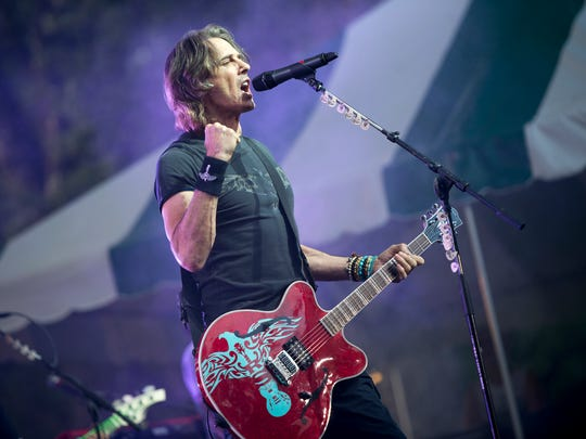 Rick Springfield performs at Spiedie Fest on Friday.