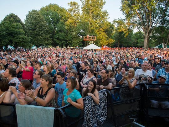A large crowd gathered to watch Rick Springfield perform at Spiedie Fest on Friday evening.