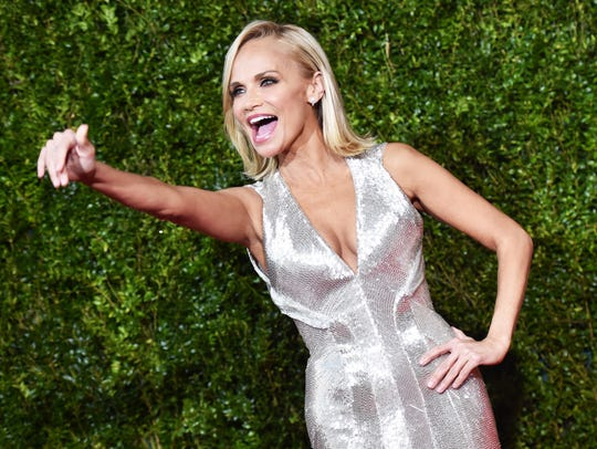 Kristin Chenoweth attends the 2015 Tony Awards at Radio