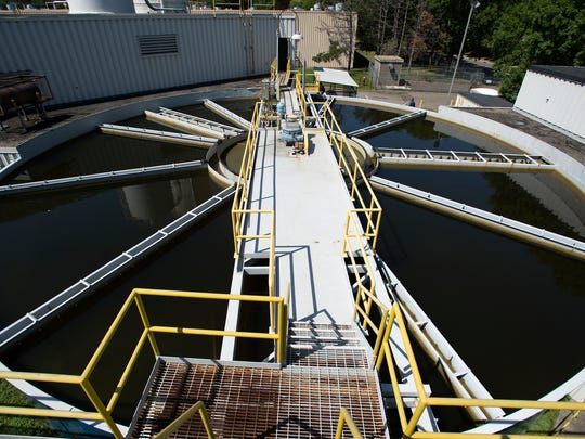 A clarifier at the i3 Electronics water treatment plant