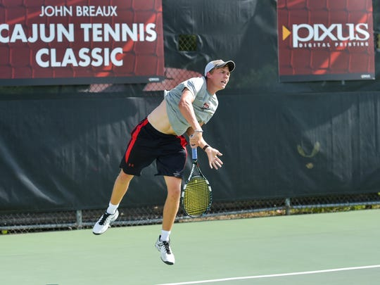 The Louisiana Ragin' Cajuns men's tennis team hosting seven of the top 35 teams in the country in the John Breaux Cajun Tennis Classic at the Culotta Tennis Center. September 23, 2016 (Pictured- Bjorn Thompson- Texas Tech