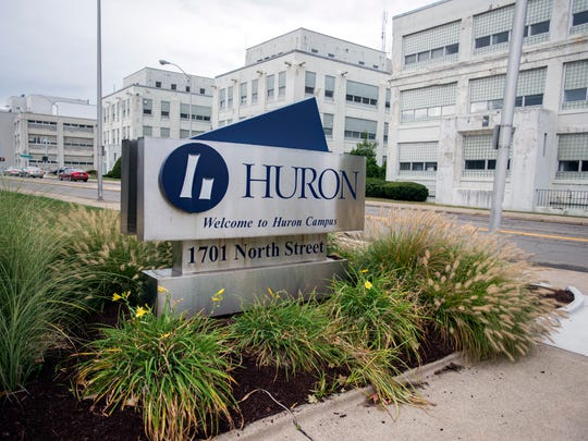"""Recent air tests show TCE levels, where detected, in Building 33 and 13 other Huron buildings """"unlikely to result in health effects,"""" according to health officials."""