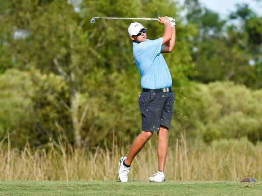 Ryan Desormeaux is shown during the Lafayette City Golf Championship at The Wetlands.