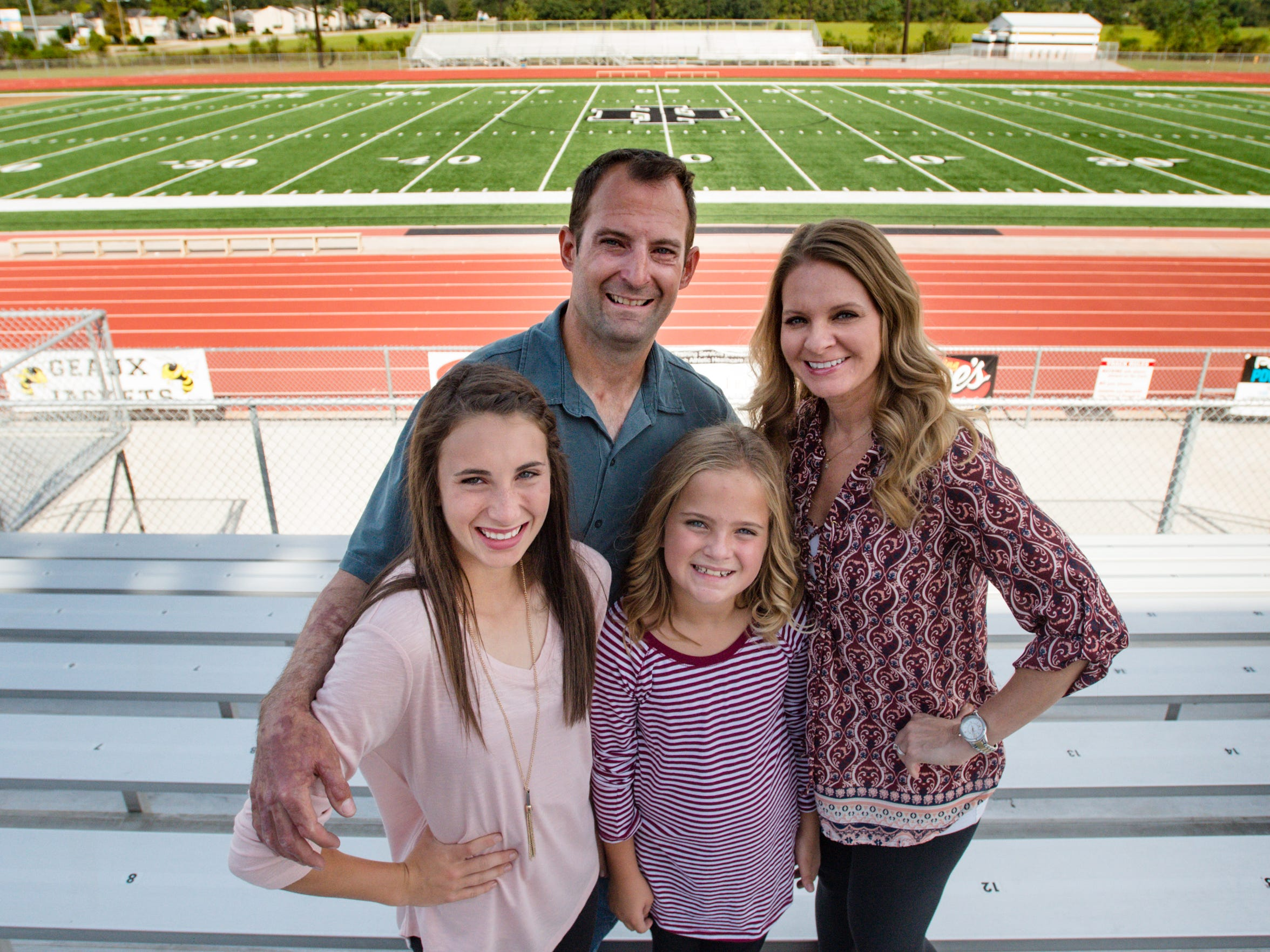 Steven Sorrel with his wife Sheri and daughters Madison