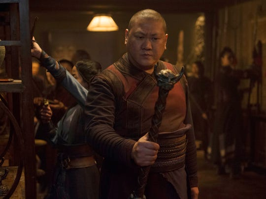 Master Wong (Benedict Wong) wields the Wand of Watoomb