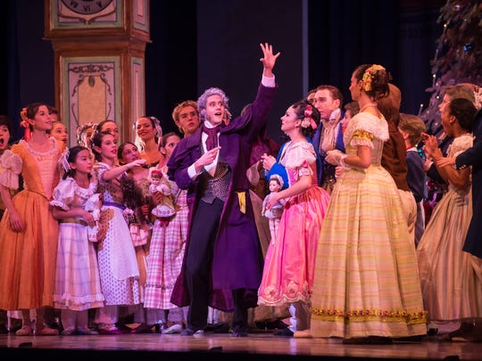 "Timothy O'Donnell (center) plays multiple roles in the Milwaukee Ballet's production of ""The Nutcracker"" this year."