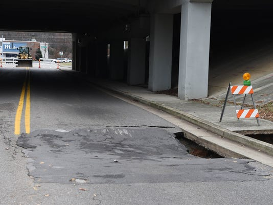 Sinkhole closes section of Wesley Road