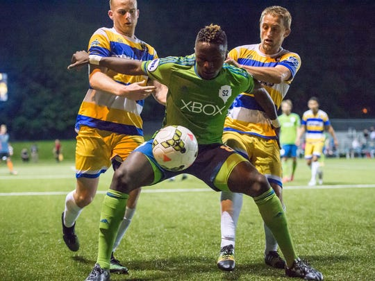 The Kitsap Pumas faced the Sounders at Starfire in the U.S. Open Cup, losing 2-0.