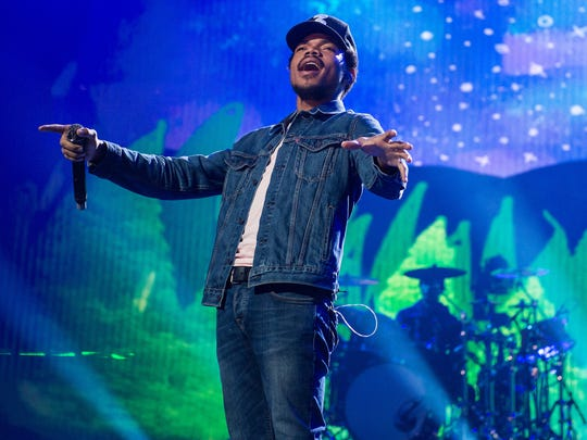 Chance The Rapper performs at the Apple Music Festival