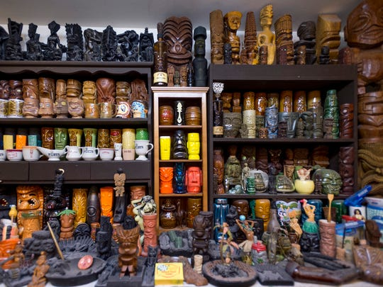 It's pretty easy to figure out the theme at Wendy and Daniel Cevola's home in Elk Grove. Tikis have taken over.