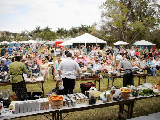 """Attendees enjoy Stuart's """"CHOPPED"""" at a previous year's ArtsFest."""