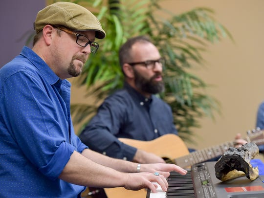 Roddy Romero and Eric Adcock perform for The Advertiser's Acadiana Roots.  Thursday, Feb. 16, 2017.