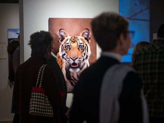 About 50 people gathered for Nature's Best Photography exhibit opening at the Roberson Museum on Thursday, Feb. 16, 2017.