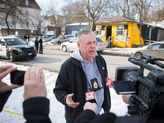 Binghamton Police Chief Joseph Zikuski addresses members