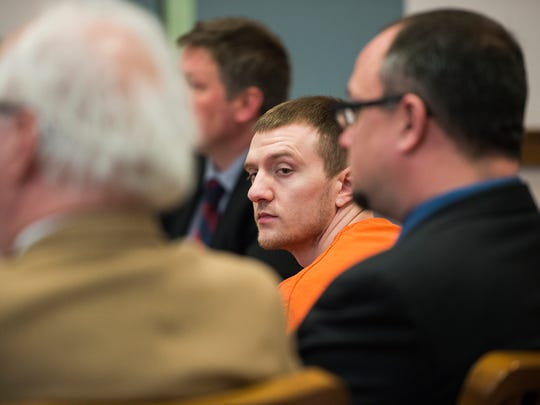 Timothy Ellis listens to Broome County Judge Joseph Cawley's guilty verdict on Thursday. Ellis faces 25 years to life in state prison for first-degree attempted murder, along with four other counts.