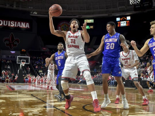 UL forward Bryce Washington had his 22nd double-double of the season to help the Cajuns beat UTA 83-81 Saturday at the Cajundome.