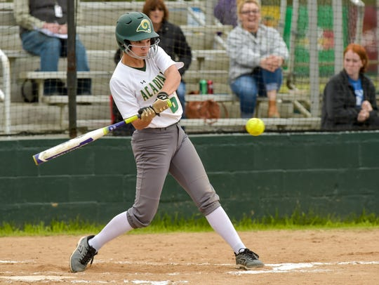 Sydni Larriviere at the plate as Acadiana hosts Sam