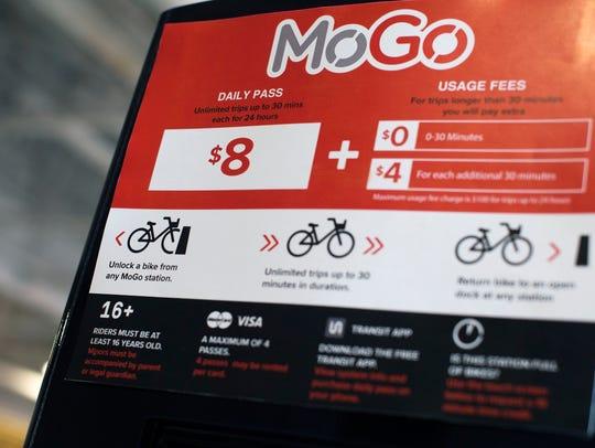 The future MoGo Detroit Bike Share station, seen on