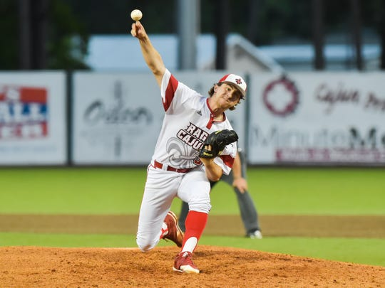 UL's Wyatt Marks works in a 3-1 win over Louisiana Tech on Tuesday night.