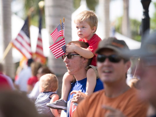The annual Stuart Memorial Day Parade and Ceremony at Memorial Park on Monday, May 29, 2017, in downtown Stuart.