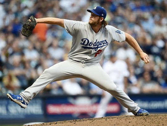 Clayton Kershaw and the Dodgers could be headed to Miller Park for the wild card game, though they currently lead the NL West.