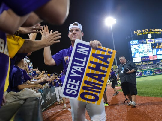 LSU beats Mississippi State 14-4 in game 2 of the NCAA