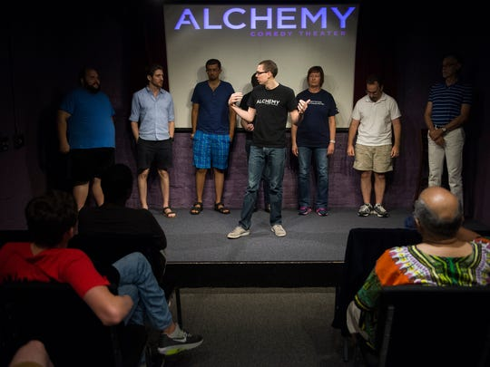 Harrison Brookie of the Alchemy Comedy Theater leads