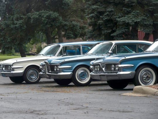 Edsel models are on display during the 49th Annual