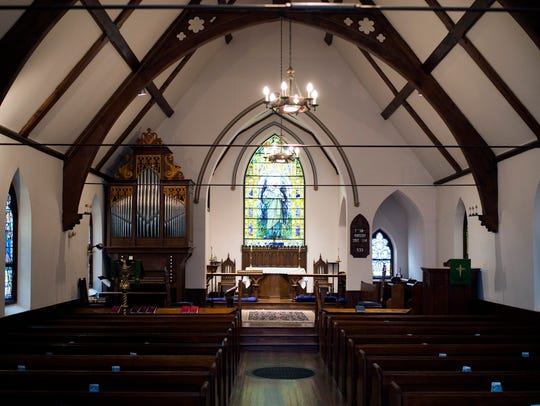 The interior of the chapel of St. James Episcopal Church