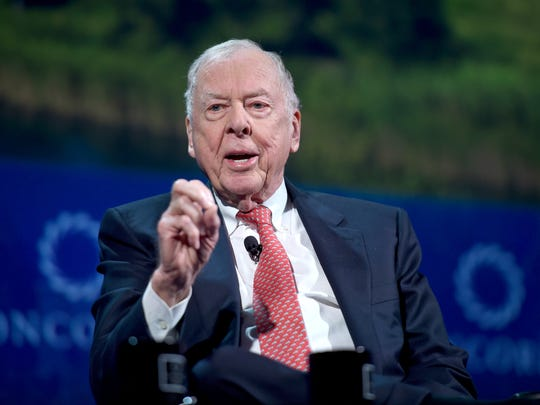 Founder & Chairman, BP Capital Management T. Boone Pickens speaks at the 2016 Concordia Summit in September 2016 in New York City.