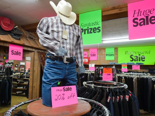 Cal's Western Store closes the doors after 58 years. Tuesday, Aug. 15, 2017.