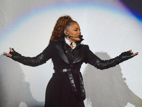 Janet Jackson performs at the Cajundome. Thursday,