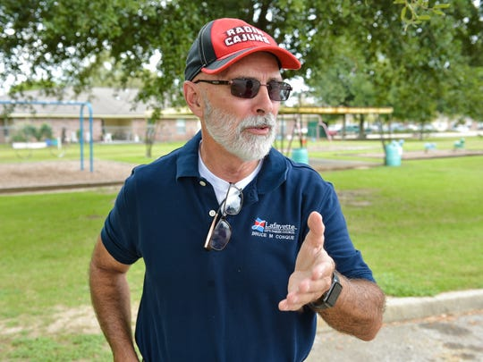 Councilman Bruce Conque discusses improvements coming at Chargois Park on Guilbeau Road in Lafayette, LA. Wednesday, Sept. 20, 2017.