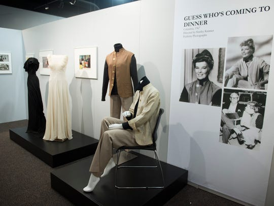 Costumes from Katherine Hepburn movies are on display