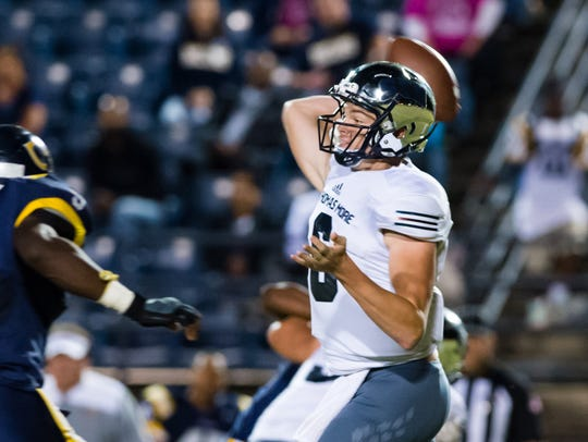 """""""St. Thomas More quarterback Caleb Holstein has high expectations for the 2018 season, which unofficially begins against Acadiana in the nightcap of Thursday's Kiwanis Club tripleheader at Cajun Field."""""""