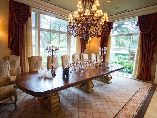 Setup begins for Ed Krampe Estate Sale. Wednesday,