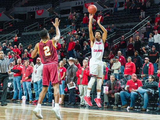 Malik Marquetti is shooting better than 50 percent from 3-point range for the Ragin' Cajuns so far this season.