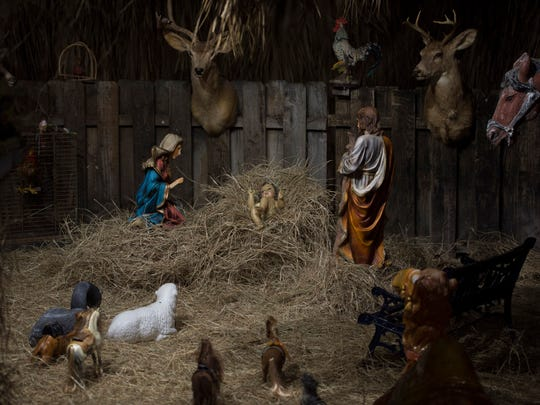 The Castro's Interiors Nativity scene was open on Friday,